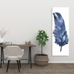 Canvas 20 x 60 - Blue feather