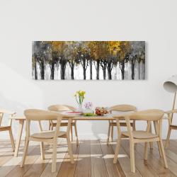 Canvas 20 x 60 - Illuminated forest