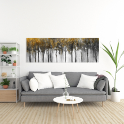 Canvas 20 x 60 - Abstract yellow forest