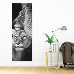 Canvas 20 x 60 - Lion and lioness