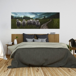 Canvas 20 x 60 - Sheep in the countryside
