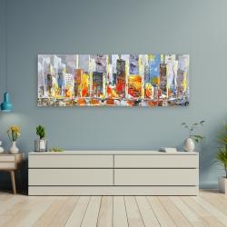 Canvas 20 x 60 - Color splash cityscape