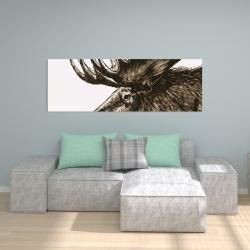 Canvas 20 x 60 - Moose plume sepia
