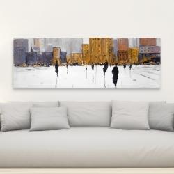 Canvas 20 x 60 - City on the horizon
