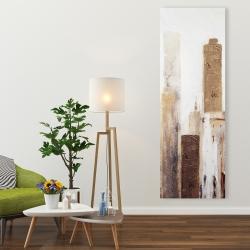 Canvas 20 x 60 - Abstract earthy tones city