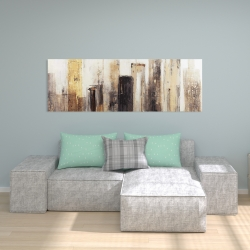 Canvas 20 x 60 - Earthy tones city