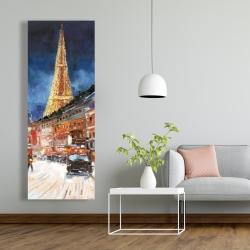 Canvas 20 x 60 - Illuminated paris