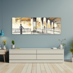 Canvas 20 x 60 - People in a spacious hall