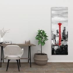 Canvas 20 x 60 - Space needle in red