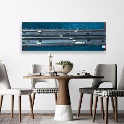 Canvas 20 x 60 - Overhead view of traffic on the golden gate