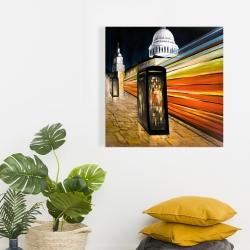 Canvas 24 x 24 - Fast london bus