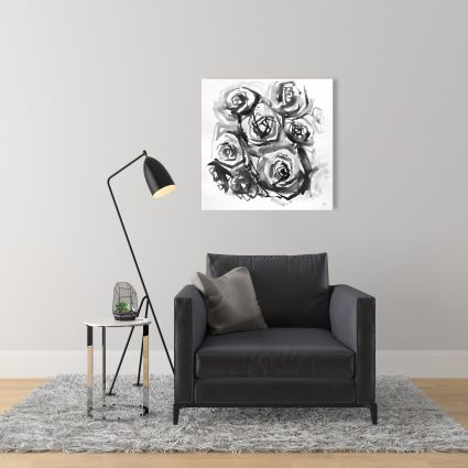Monochrome abstract roses