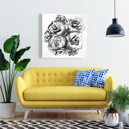 Set of abstract roses