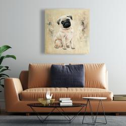 Toile 24 x 24 - Petit pug