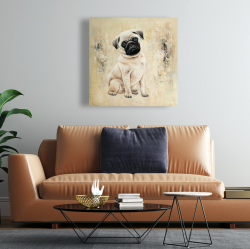 Canvas 24 x 24 - Small pug