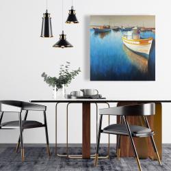 Canvas 24 x 24 - Fishing boats at the marina
