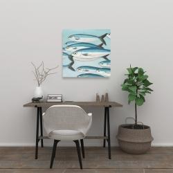 Canvas 24 x 24 - Small fish of caesio caerulaurea