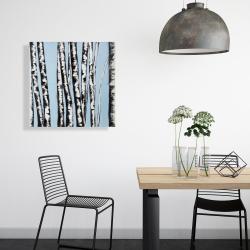 Canvas 24 x 24 - Pastel birches