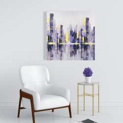 Canvas 24 x 24 - Abstract purple city