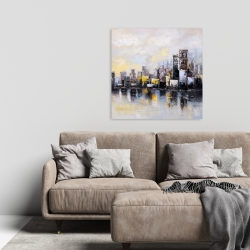 Canvas 24 x 24 - Abstract city in the morning