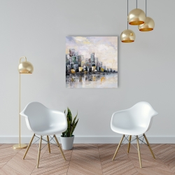 Canvas 24 x 24 - Abstract cityscape in the morning