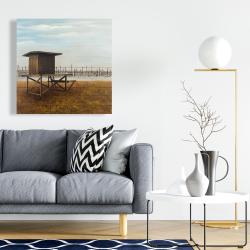 Canvas 24 x 24 - Newport beach lifeguard tower