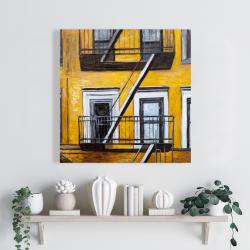 Canvas 24 x 24 - Building old fire escape