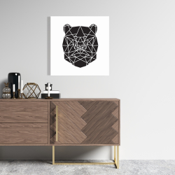 Canvas 24 x 24 - Geometric bear head