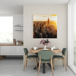 Canvas 24 x 24 - New york city at sunset