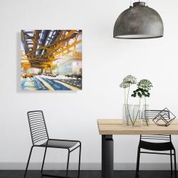 Canvas 24 x 24 - Trafic under the bridge