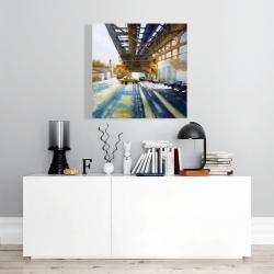 Canvas 24 x 24 - Cars under the bridge