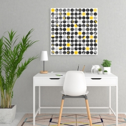 Canvas 24 x 24 - Abstract grunge circles