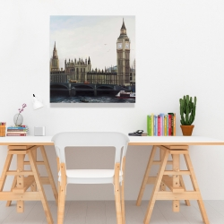 Canvas 24 x 24 - Big ben clock elizabeth tower in london