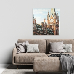 Canvas 24 x 24 - St-pancras station in london