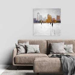 Canvas 24 x 24 - City on the horizon