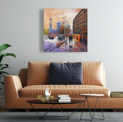 Canvas 24 x 24 - City by fall