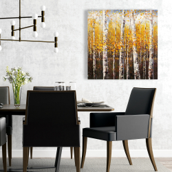 Canvas 24 x 24 - Birches by sunny day