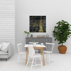 Canvas 24 x 24 - Gold city blue print