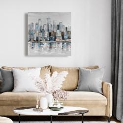 Canvas 24 x 24 - Abstract urban skyline