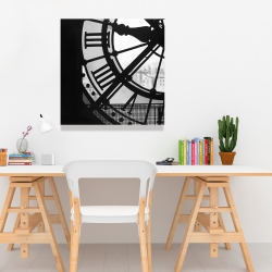 Canvas 24 x 24 - Clock at the orsay museum