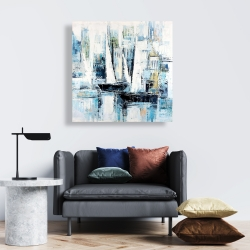 Canvas 24 x 24 - Industrial style boats