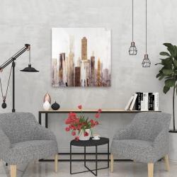 Canvas 24 x 24 - Abstract earthy tones city