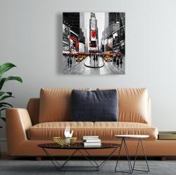 Toile 24 x 24 - Rue achalandée de la ville de new york