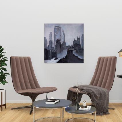 Illustrative gray city