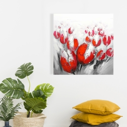 Canvas 24 x 24 - Red tulips