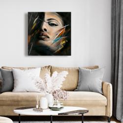 Toile 24 x 24 - Portrait abstrait de femme