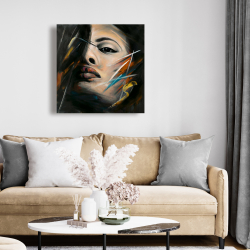 Canvas 24 x 24 - Abstract woman portrait