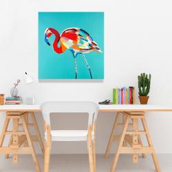 Canvas 24 x 24 - Abstract flamingo