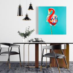 Canvas 24 x 24 - Colorful flamingo