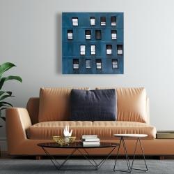 Canvas 24 x 24 - Building architecture with random windows